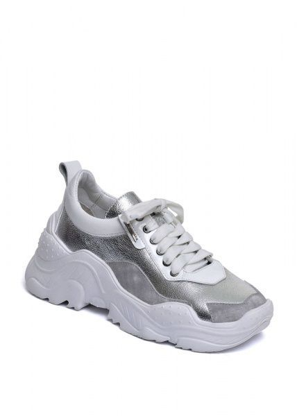 """для женщин 565500 Белые кожаные кроссовки """"Ugly shoes"""" Modus Vivendi 565500 модные, 2017"""