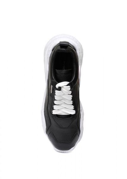 женские 565510 Черные кожаные кроссовки Modus Vivendi 565510 примерка, 2017
