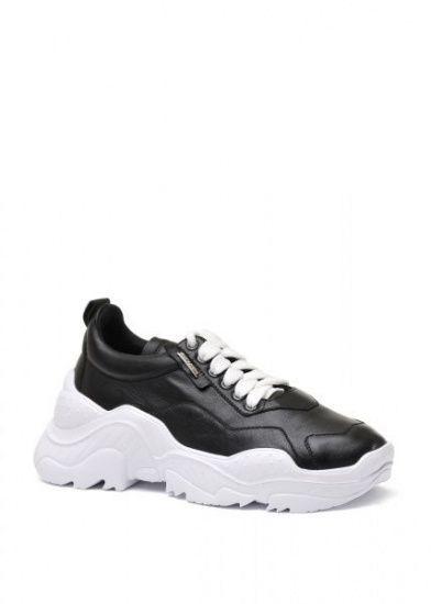 женские 565510 Черные кожаные кроссовки Modus Vivendi 565510 выбрать, 2017