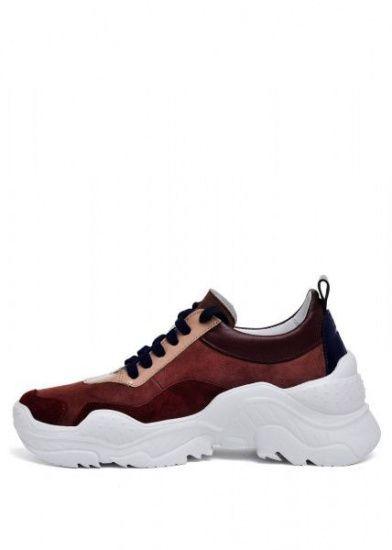 """женские 565530 Кожаные бордовые кроссовки """"Ugly shoes"""" Modus Vivendi 565530 модные, 2017"""