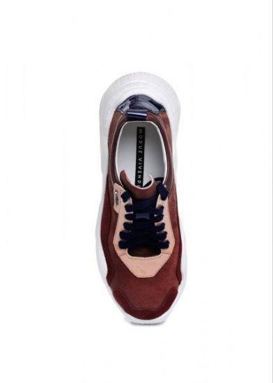 """женские 565530 Кожаные бордовые кроссовки """"Ugly shoes"""" Modus Vivendi 565530 фото обуви, 2017"""