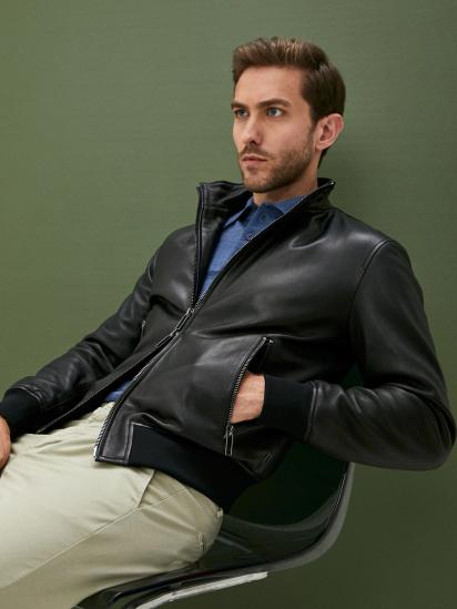 Шкіряна куртка Emporio Armani модель 91B52P-91P52-999 — фото 4 - INTERTOP