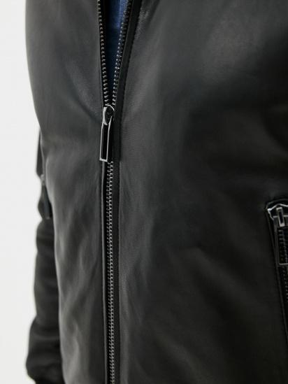 Шкіряна куртка Emporio Armani модель 91B52P-91P52-999 — фото 5 - INTERTOP
