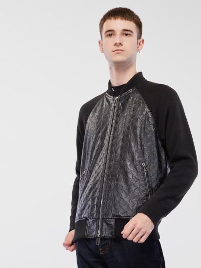 Шкіряна куртка Emporio Armani - фото