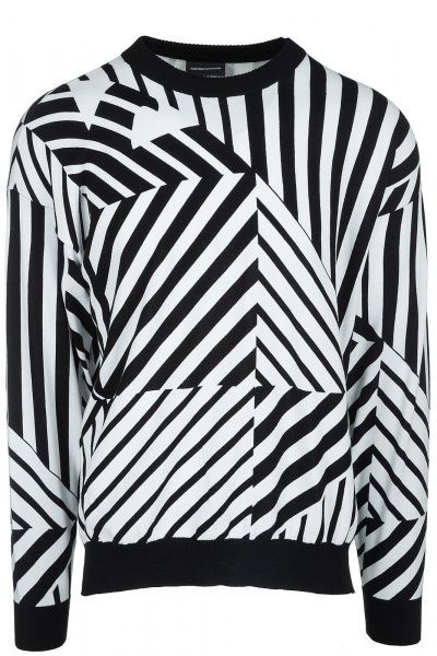 Пуловер мужские Emporio Armani MAN JERSEY PULLOVER 5O54 примерка, 2017