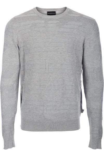 Пуловер мужские Emporio Armani MAN JERSEY PULLOVER 5O59 примерка, 2017