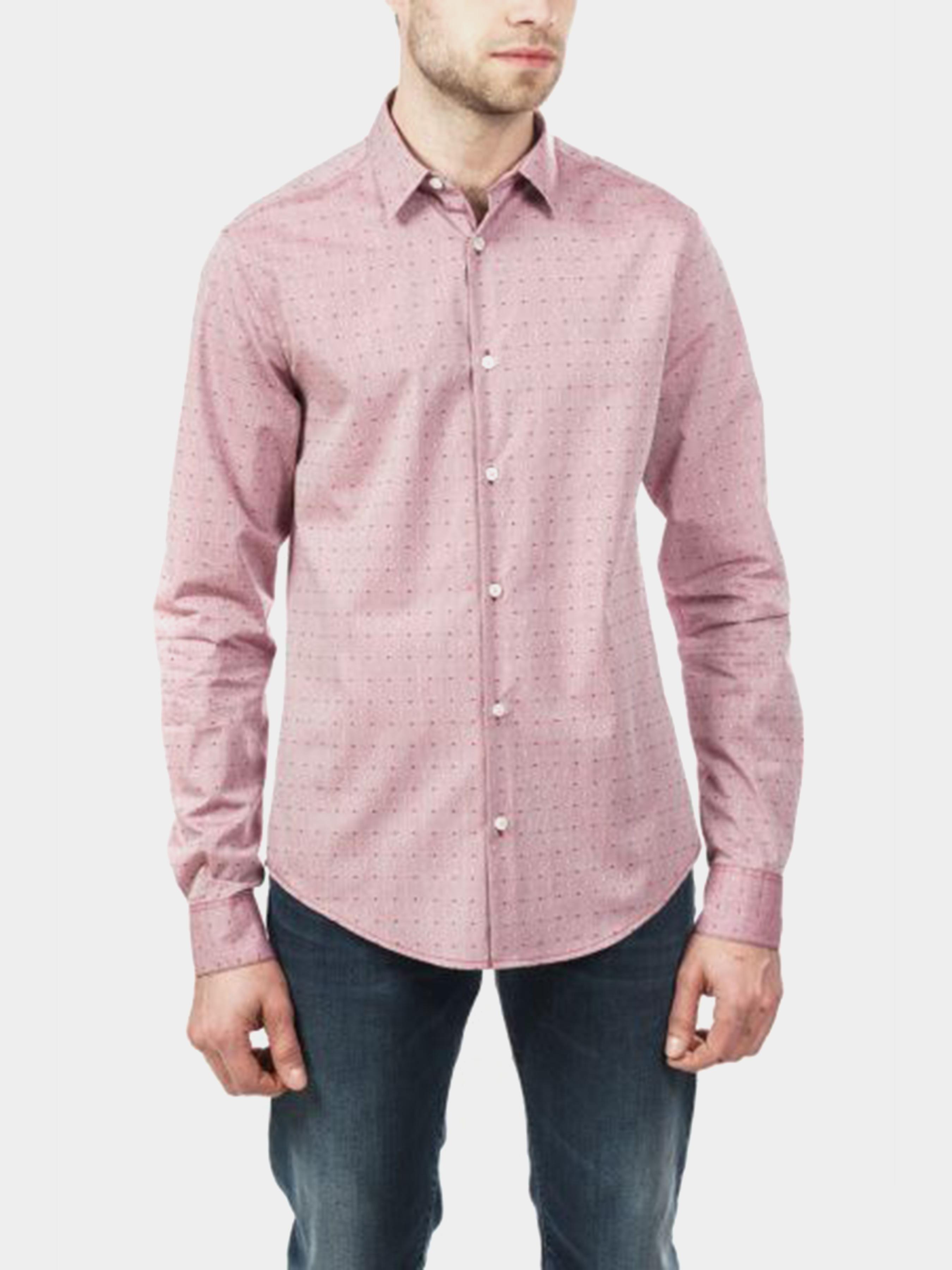 Купить Рубашка с длинным рукавом мужские модель 5O65, Emporio Armani, Розовый