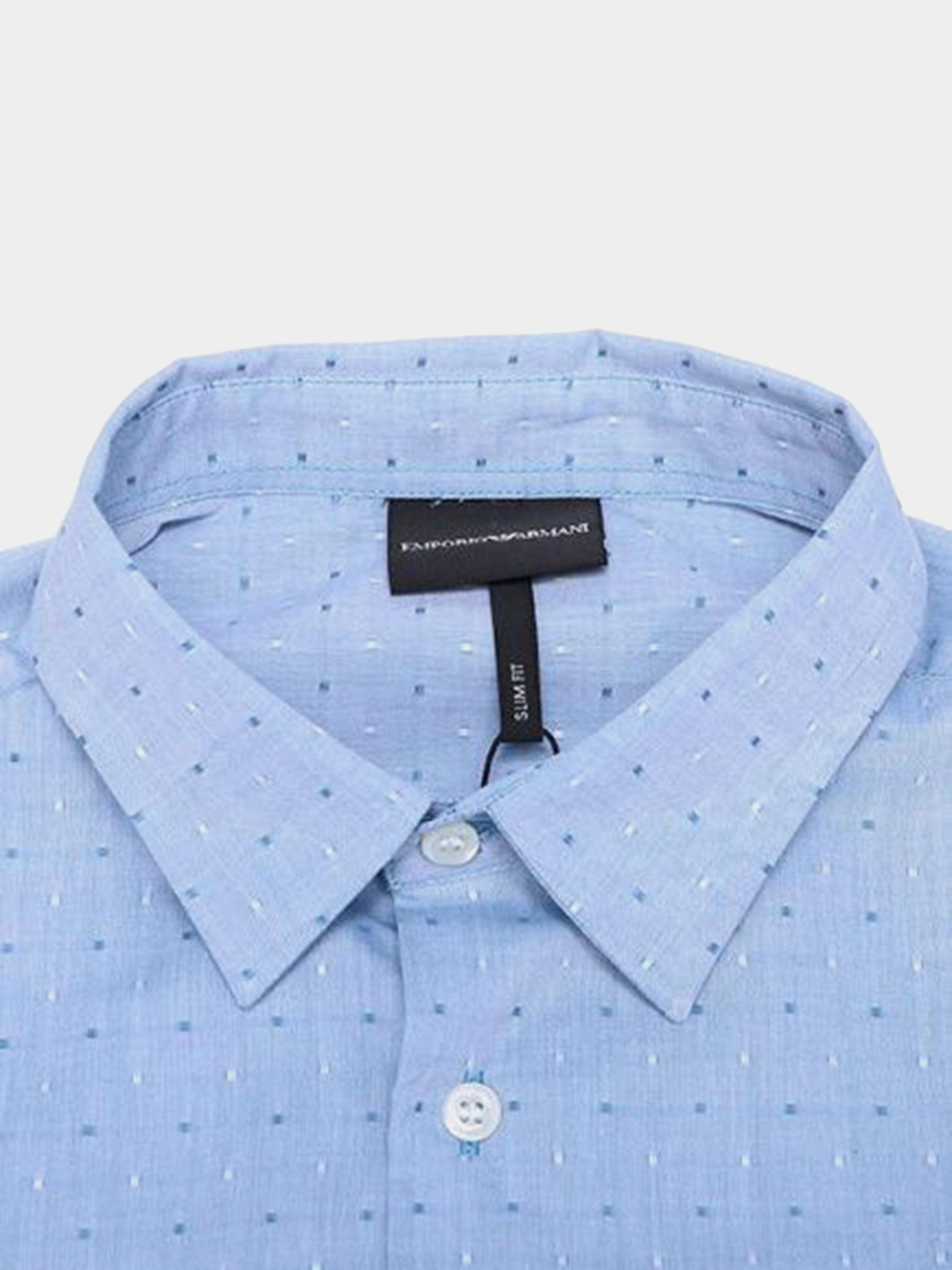 Рубашка с длинным рукавом мужские Emporio Armani модель 5O66 цена, 2017