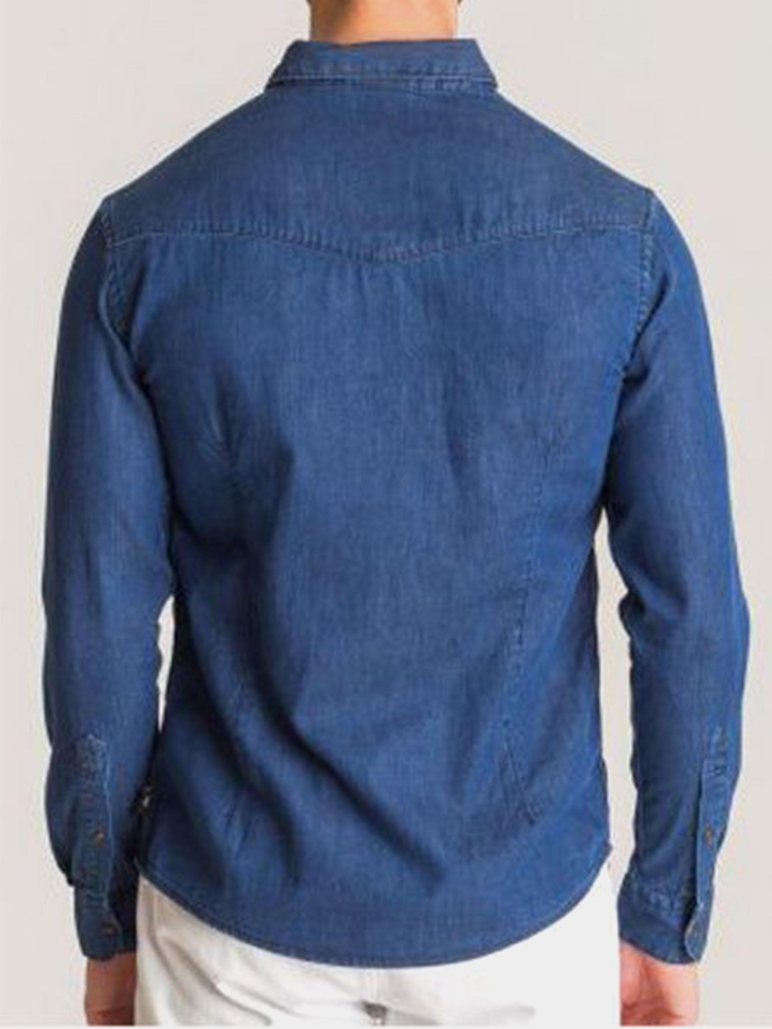 Рубашка с длинным рукавом мужские Emporio Armani модель 5O69 цена, 2017