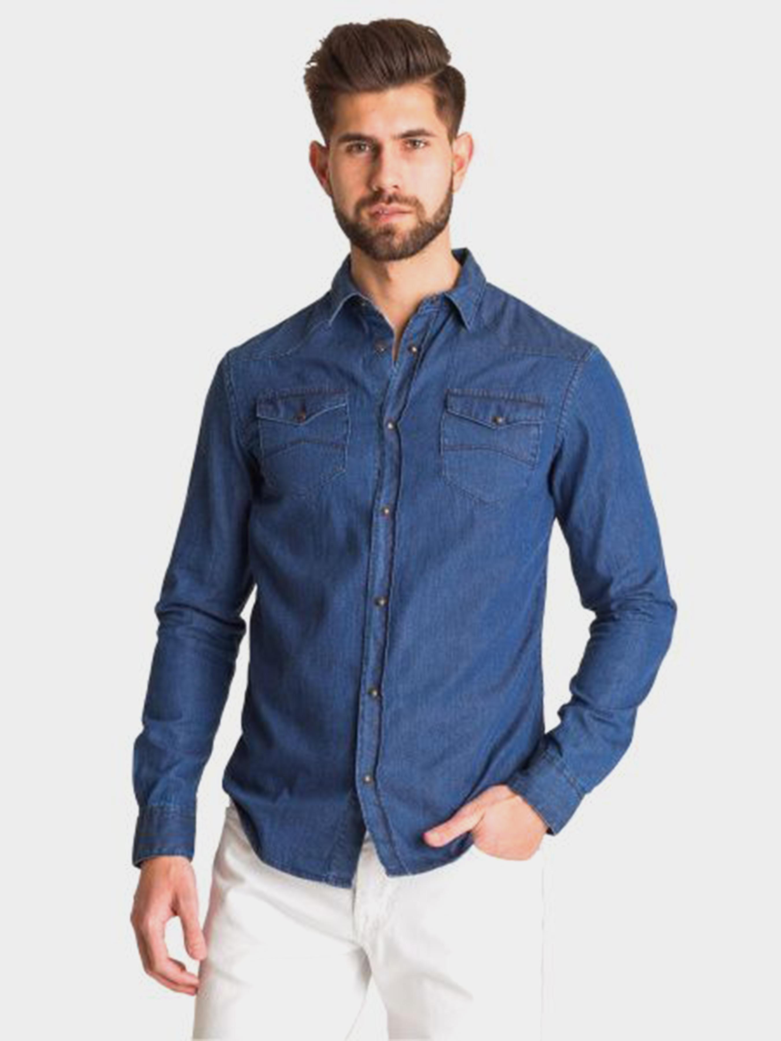Рубашка с длинным рукавом мужские Emporio Armani модель 5O69 приобрести, 2017