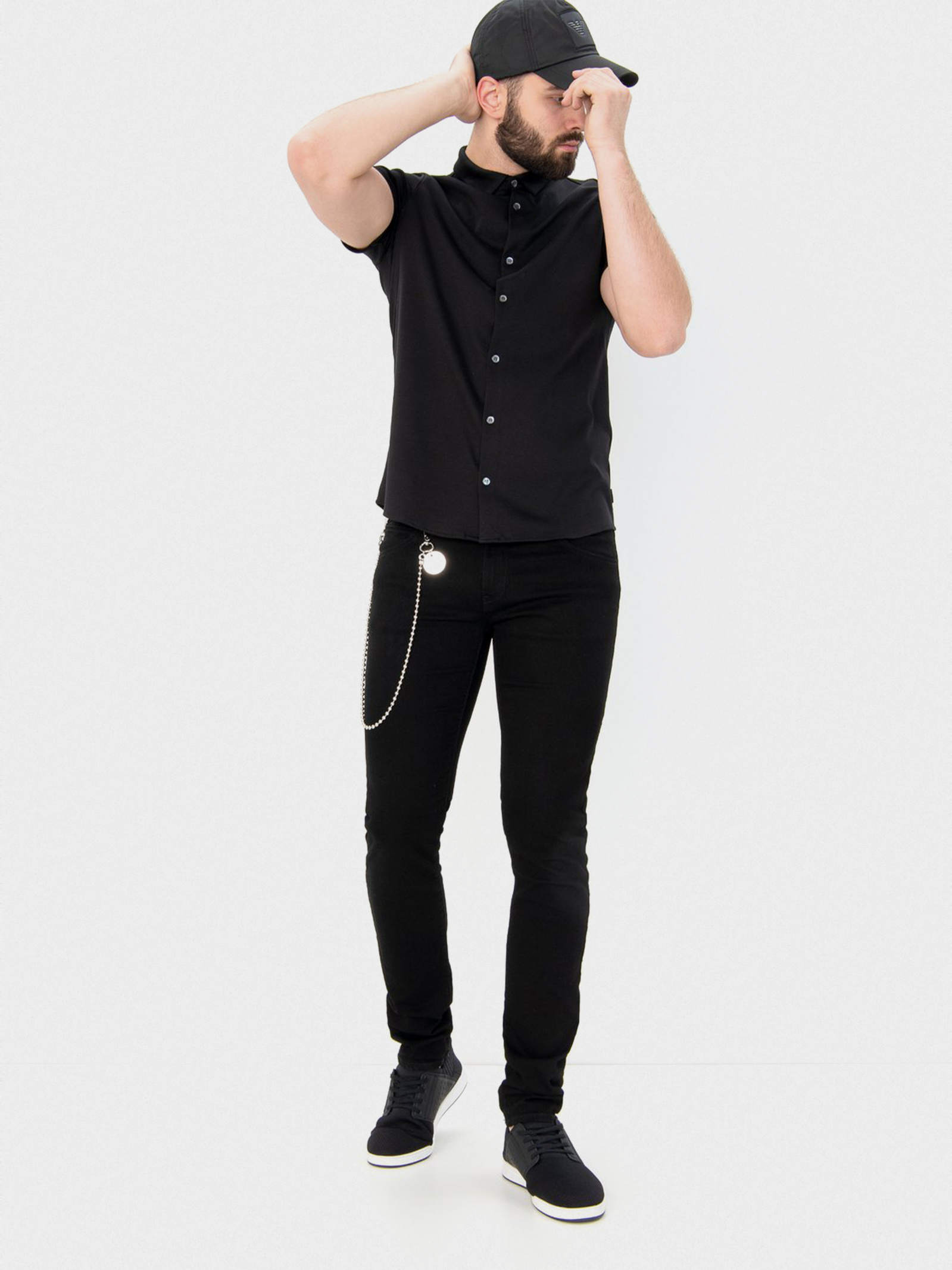 Рубашка мужские Emporio Armani модель 8N1CH5-1JPRZ-0999 купить, 2017