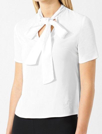 Блуза з коротким рукавом Emporio Armani модель 6Z2K64-2N64Z-0101 — фото 2 - INTERTOP
