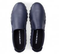 Кроссовки мужские Emporio Armani MAN LEATHER SNEAKER 5Q56 брендовая обувь, 2017