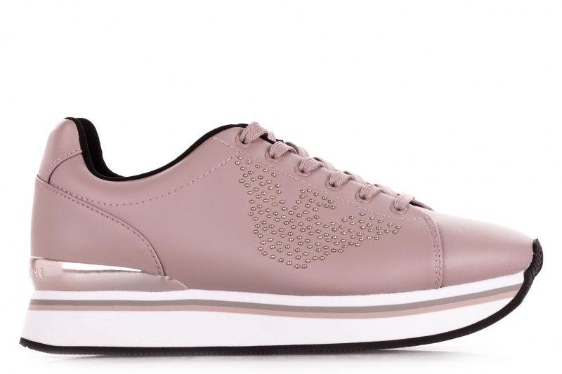 Купить Кроссовки для женщин Emporio Armani WOMAN LEATHER SNEAKER 5R90, Розовый