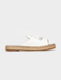 Шльопанці  жіночі Шлепанцы 605white белая кожа 605white модне взуття, 2017