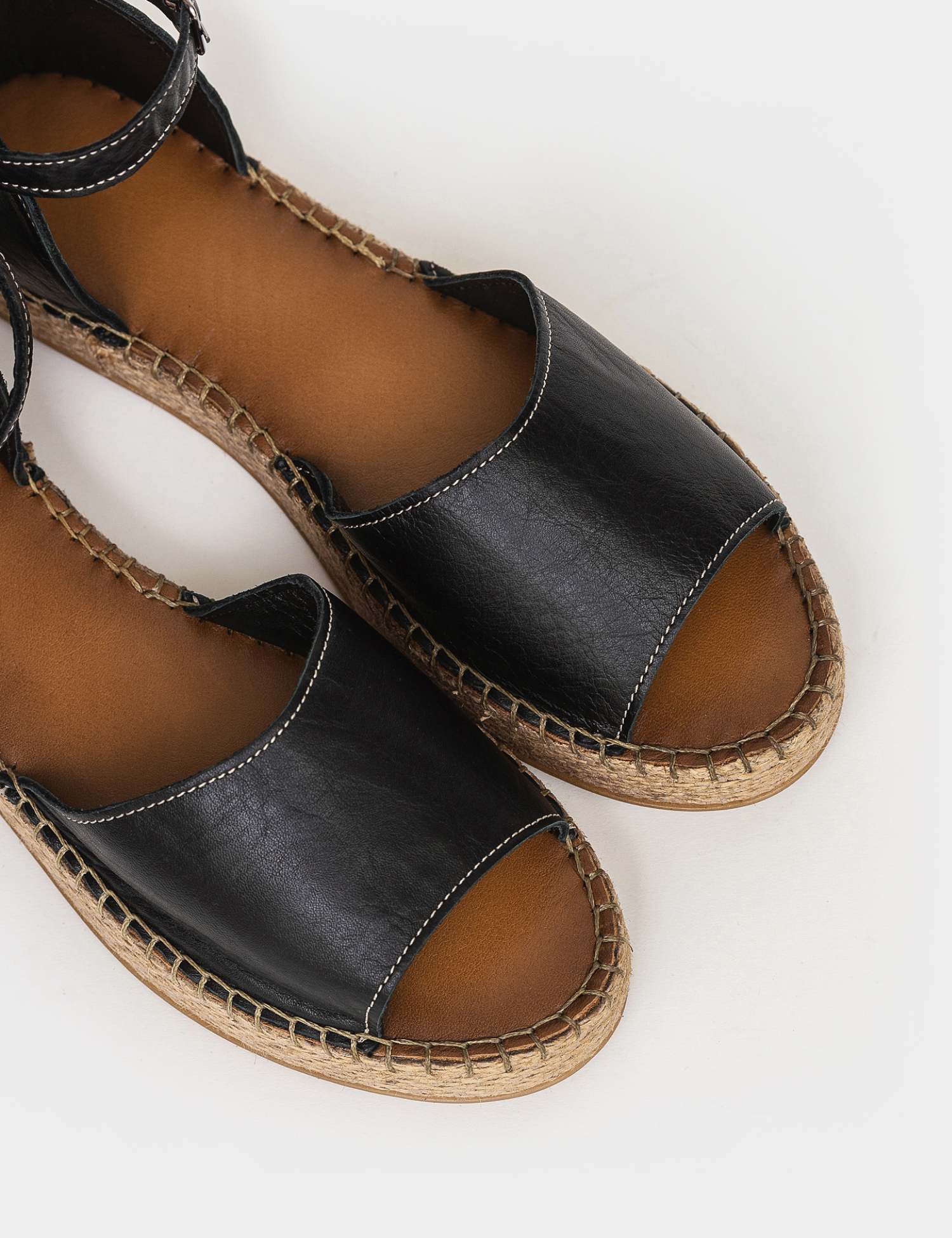 Сандалі  для жінок Сандали 609chr черная кожа 609chr модне взуття, 2017