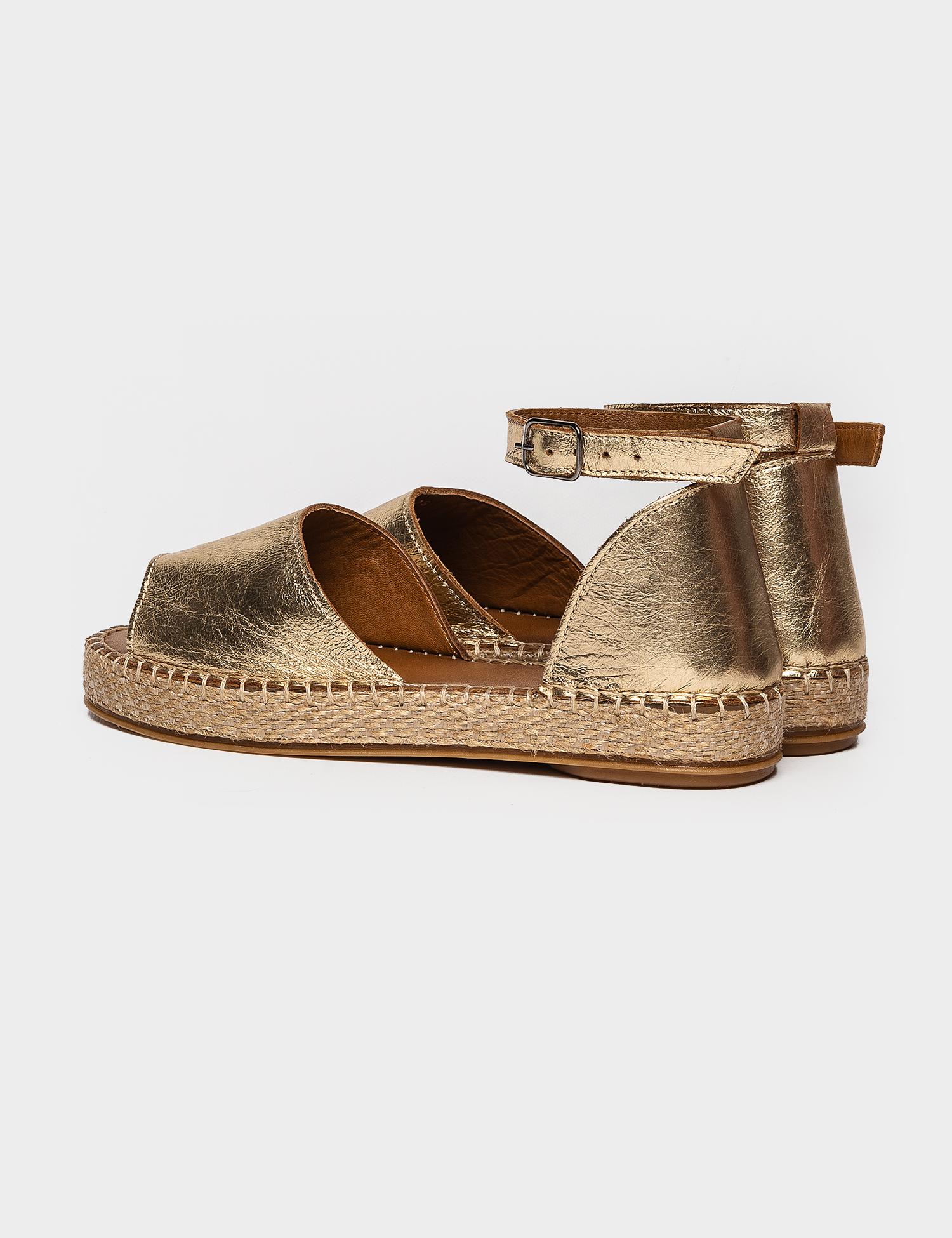Сандалі  жіночі Сандали 609gold золотая кожа 609gold брендове взуття, 2017