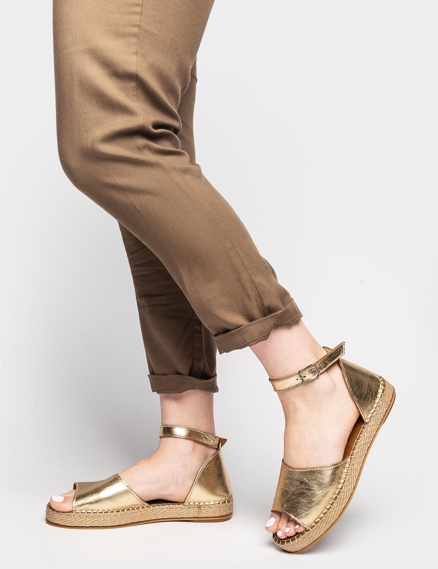 Сандалі  жіночі Сандали 609gold золотая кожа 609gold модне взуття, 2017