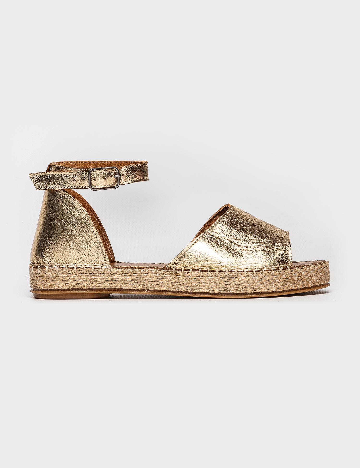 Сандалі  жіночі Сандали 609gold золотая кожа 609gold ціна взуття, 2017