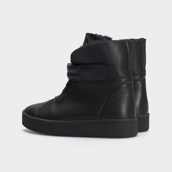 Ботинки женские Ботинки 618-010 черная кожа. Хутро 618-010 цена, 2017