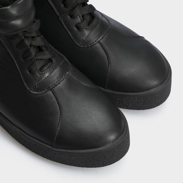 Ботинки женские Ботинки 618-010 черная кожа. Хутро 618-010 купить в Интертоп, 2017
