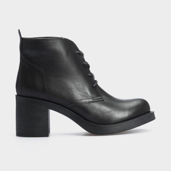 Туфли женские Ботильоны 67341-1 черная кожа. Байка 67341-1 продажа, 2017