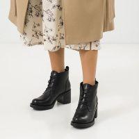 Туфли женские Ботильоны 67341-1 черная кожа. Байка 67341-1 примерка, 2017