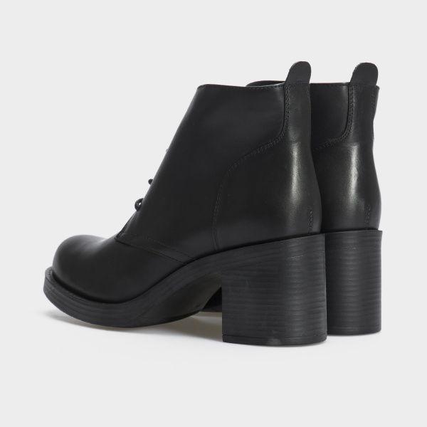 Туфли женские Ботильоны 67341-1 черная кожа. Байка 67341-1 брендовая обувь, 2017