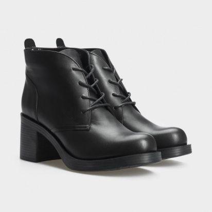 Туфли женские Ботильоны 67341-1 черная кожа. Байка 67341-1 размерная сетка обуви, 2017