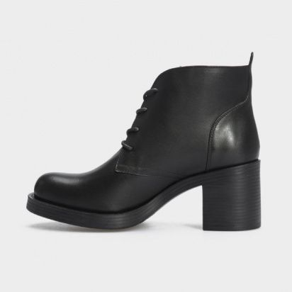 Туфли женские Ботильоны 67341-1 черная кожа. Байка 67341-1 цена, 2017