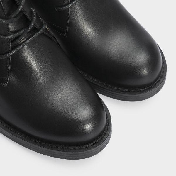Туфли женские Ботильоны 67341-1 черная кожа. Байка 67341-1 купить в Интертоп, 2017