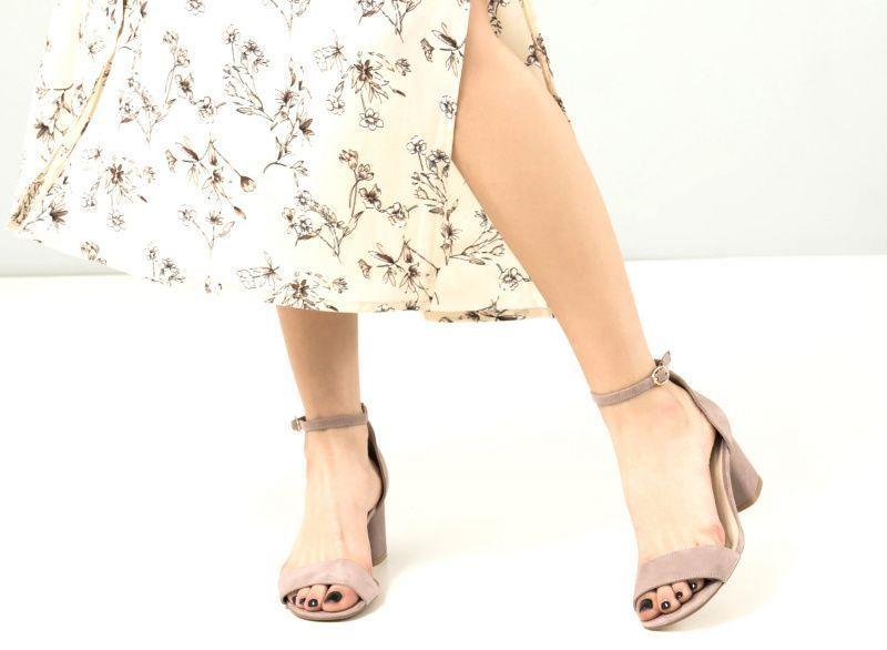 Босоножки для женщин Босоножки 67896048 бежевая замша 67896048 обувь бренда, 2017