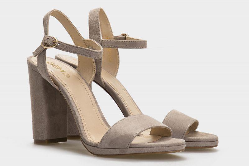 Босоножки для женщин Босоножки 69893810 серая замша 69893810 брендовая обувь, 2017