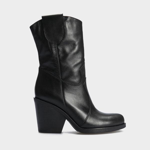 Купить Сапоги женские Ботинки (Козак) 70149-020 черная кожа. Байка 70149-020, Gem, Черный