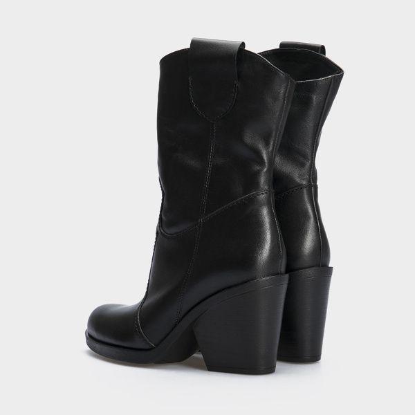 Сапоги женские Ботинки (Козак) 70149-020 черная кожа. Байка 70149-020 выбрать, 2017