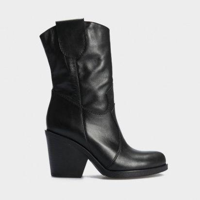 Сапоги женские Ботинки (Козак) 70149-020 черная кожа. Байка 70149-020 купить в Украине, 2017