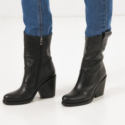 Сапоги женские Ботинки (Козак) 70149-020 черная кожа. Байка 70149-020 фото, купить, 2017