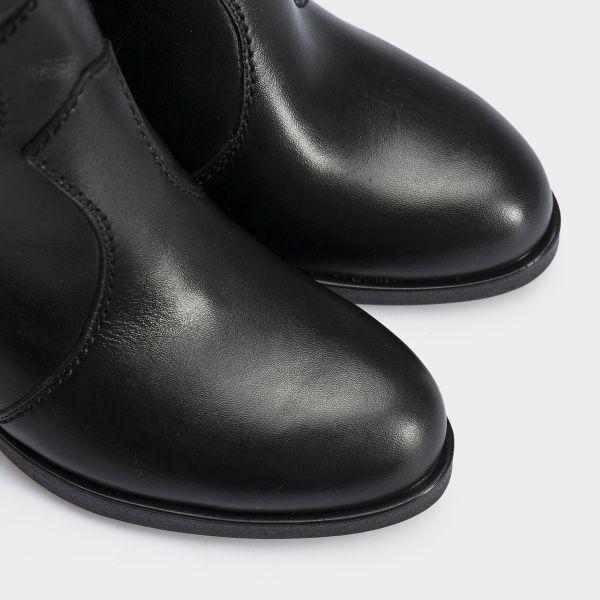 Сапоги женские Ботинки (Козак) 70149-020 черная кожа. Байка 70149-020 Заказать, 2017