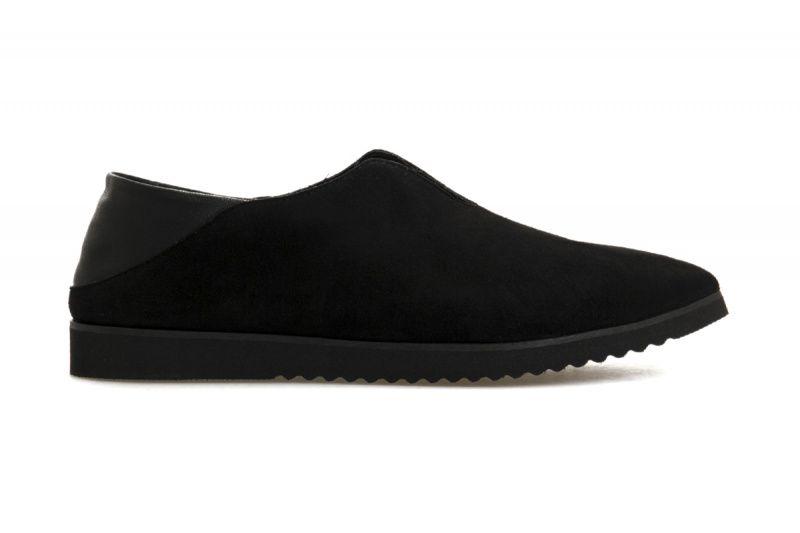 Купить Туфли женские Сліпери 7085-410 черная замша/кожа 7085-410, Gem, Черный