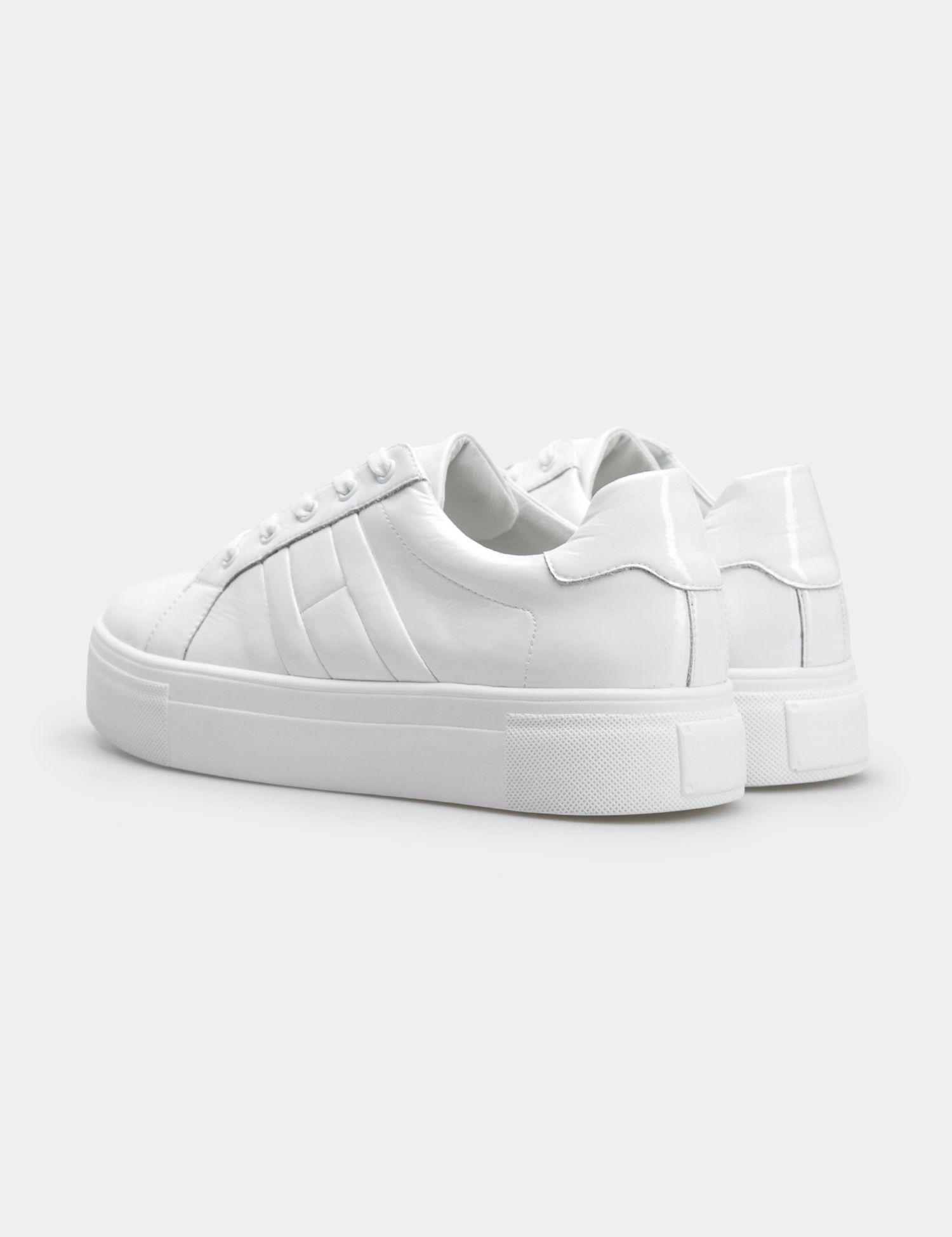 Кроссовки для женщин Кеды 71030280-1 белая кожа лакированя 71030280-1 , 2017