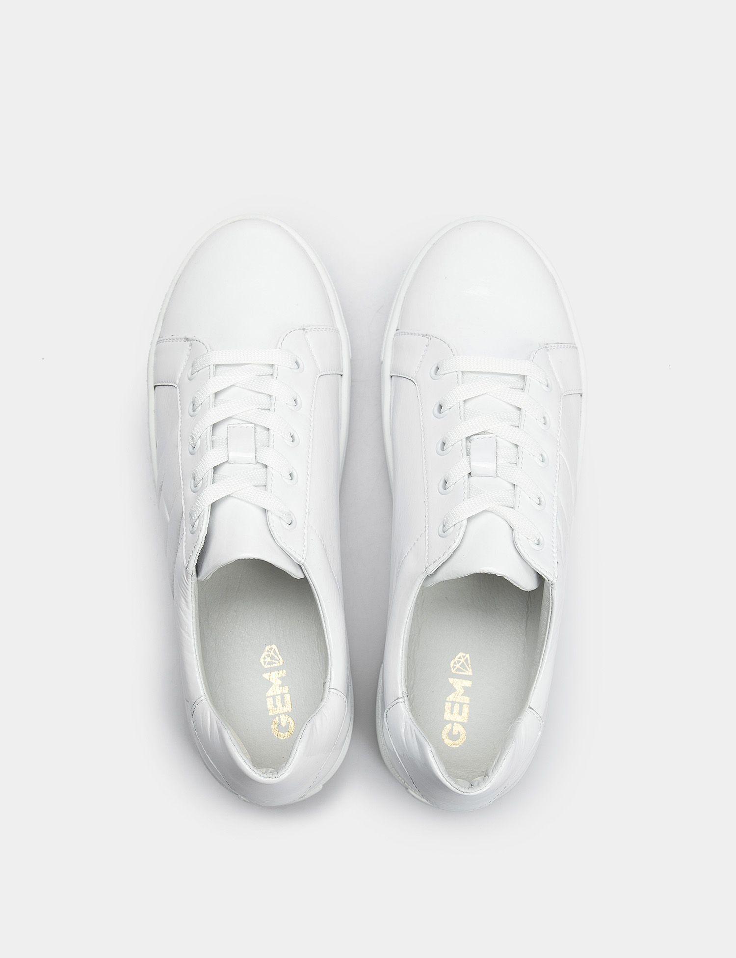 Кроссовки для женщин Кеды 71030280-1 белая кожа лакированя 71030280-1 фото, купить, 2017
