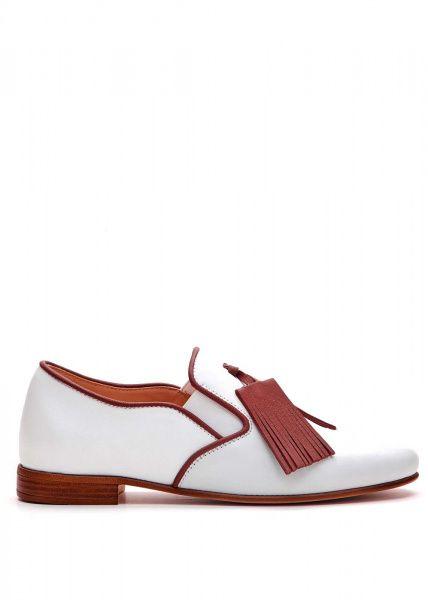 Купить Туфли женские 715002 Белые кожаные туфли 715002, Modus Vivendi
