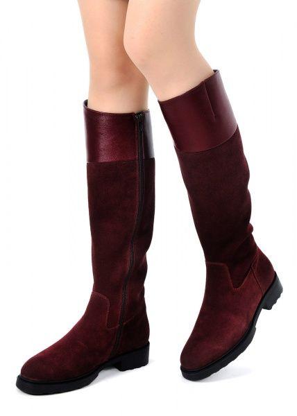 для женщин 740211 Замшевые бордовые сапоги Modus Vivendi 740211 обувь бренда, 2017