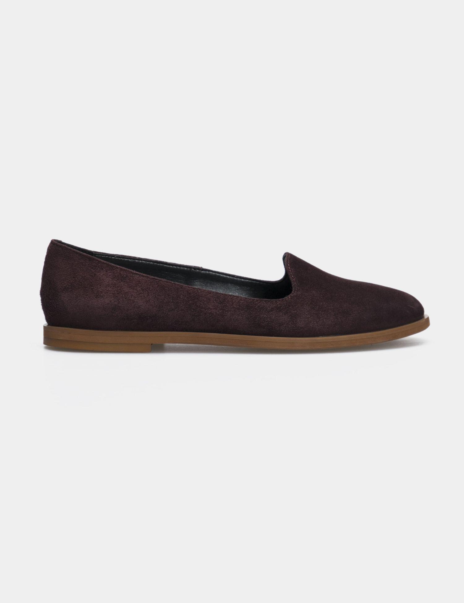Балетки для женщин Слиперы 75896511 бордовая замша 75896511 размерная сетка обуви, 2017
