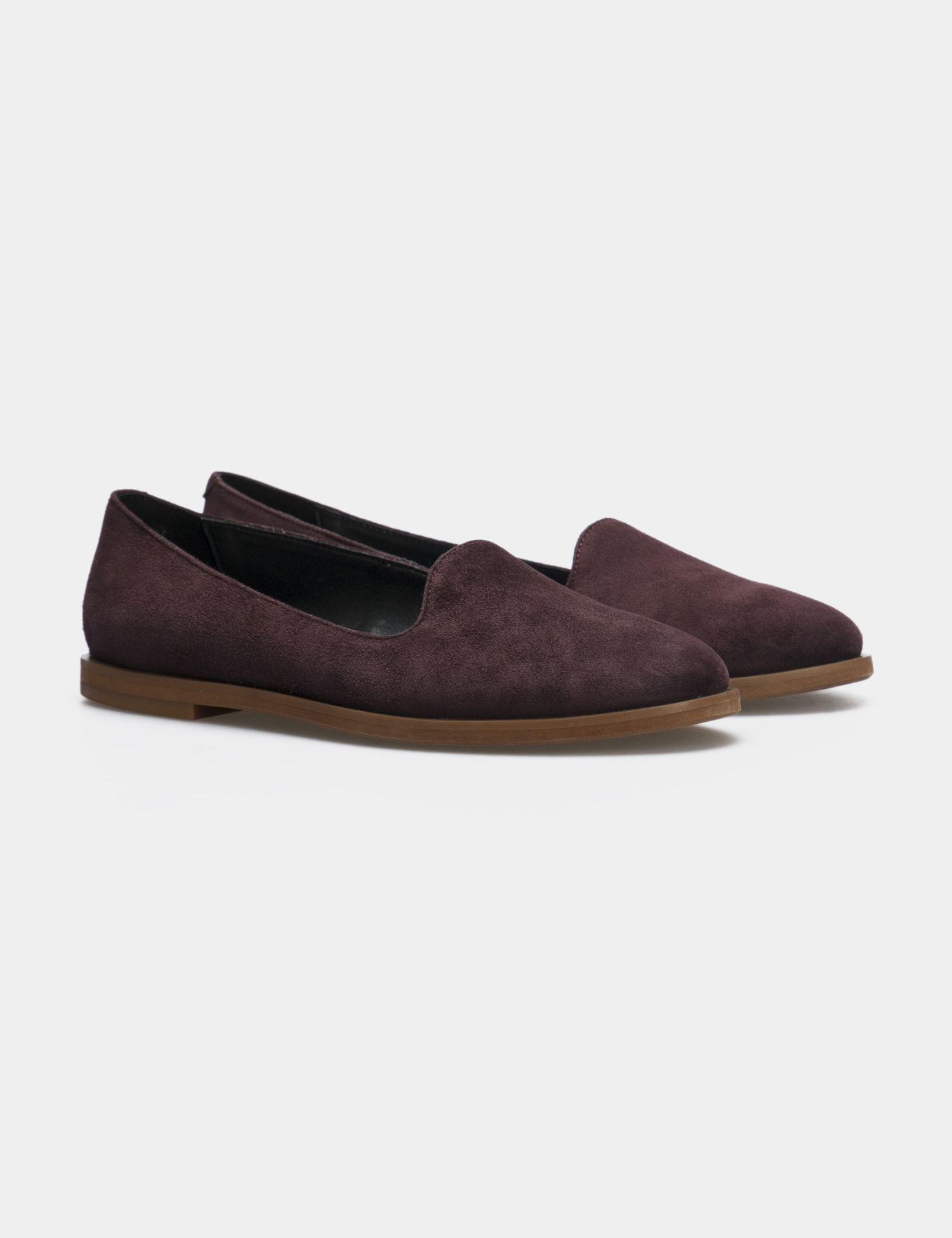 Балетки для женщин Слиперы 75896511 бордовая замша 75896511 брендовая обувь, 2017