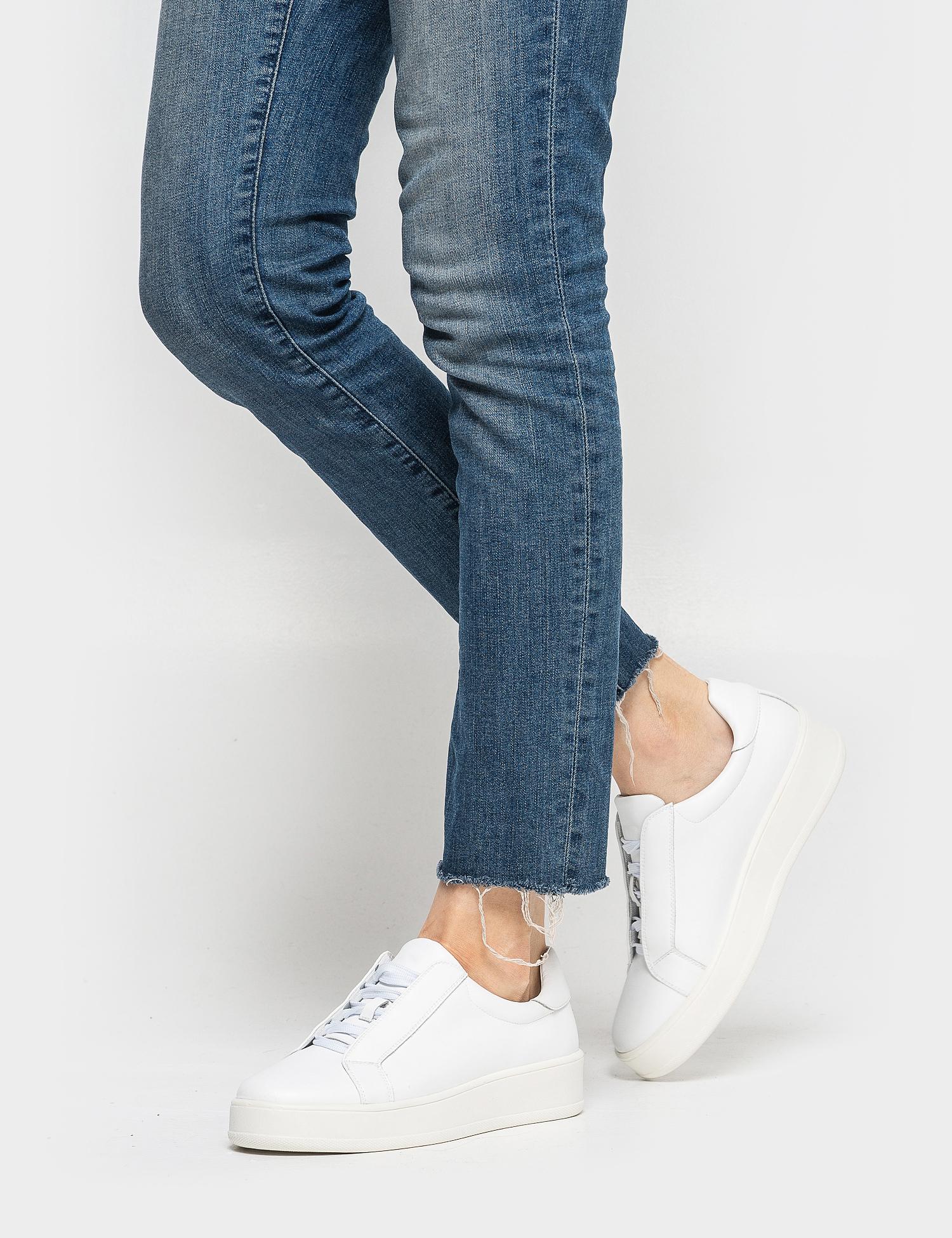 Кеди  жіночі Кроссовки 75908180-1 белая кожа 75908180-1 розмірна сітка взуття, 2017