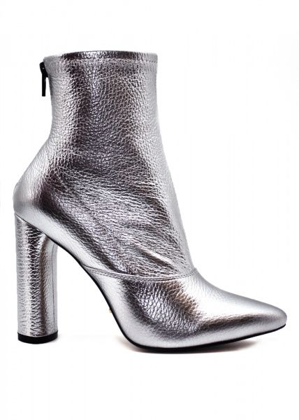 Купить Ботинки женские 764914 Кожаные ботинки цвета серебро 764914, Modus Vivendi