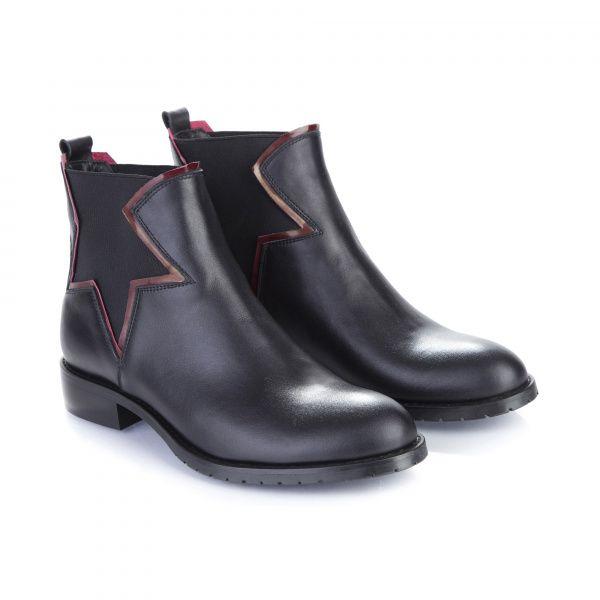 Ботинки для женщин Ботинки 7723 черная кожа. Байка 7723 фото, купить, 2017