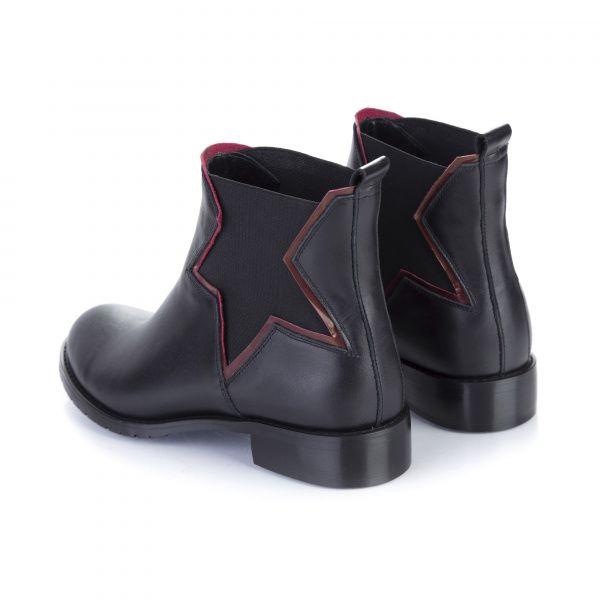Ботинки для женщин Ботинки 7723 черная кожа. Байка 7723 смотреть, 2017
