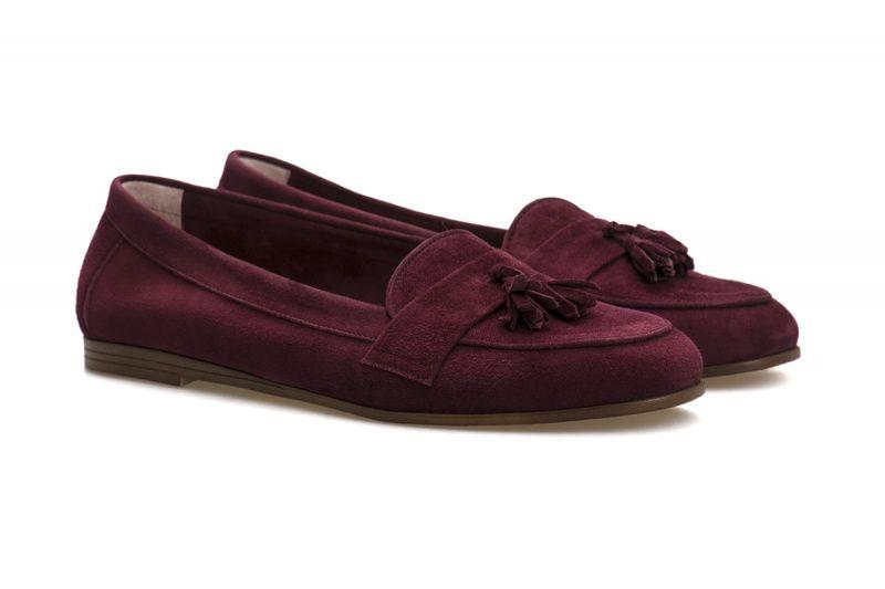 Балетки для женщин Слиперы 7728-110 марсала замша 7728-110 размерная сетка обуви, 2017